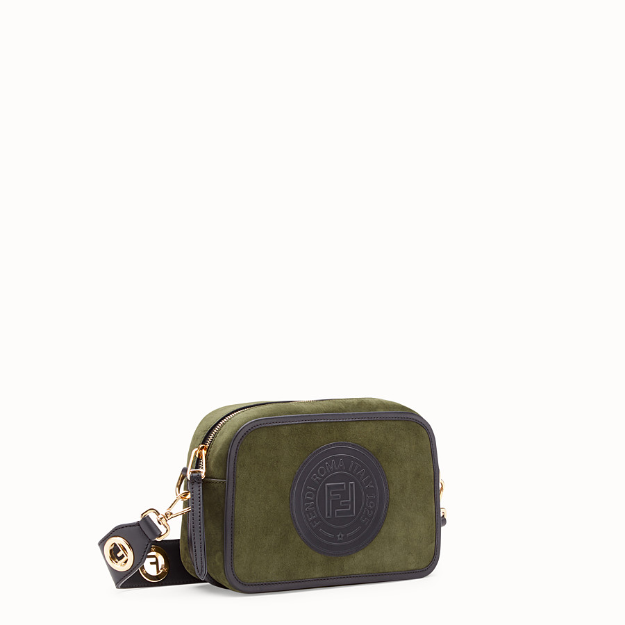 FENDI CAMERA CASE - Green suede bag - view 2 detail