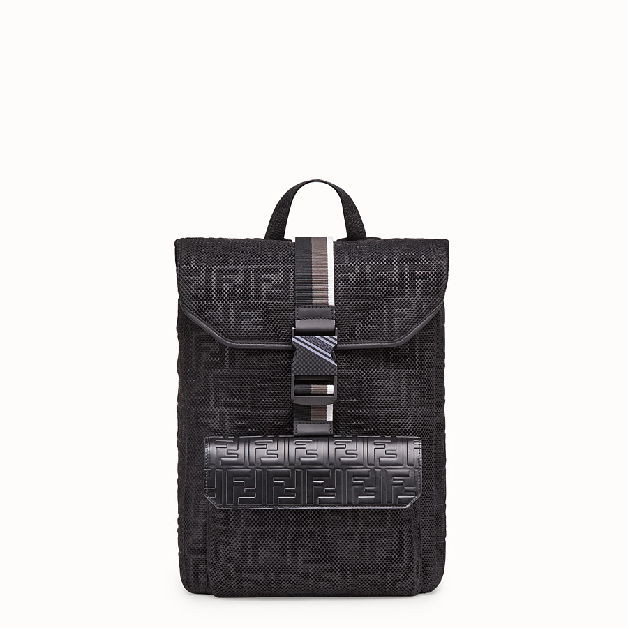 FENDI BACKPACK - Black mesh backpack - view 1 detail