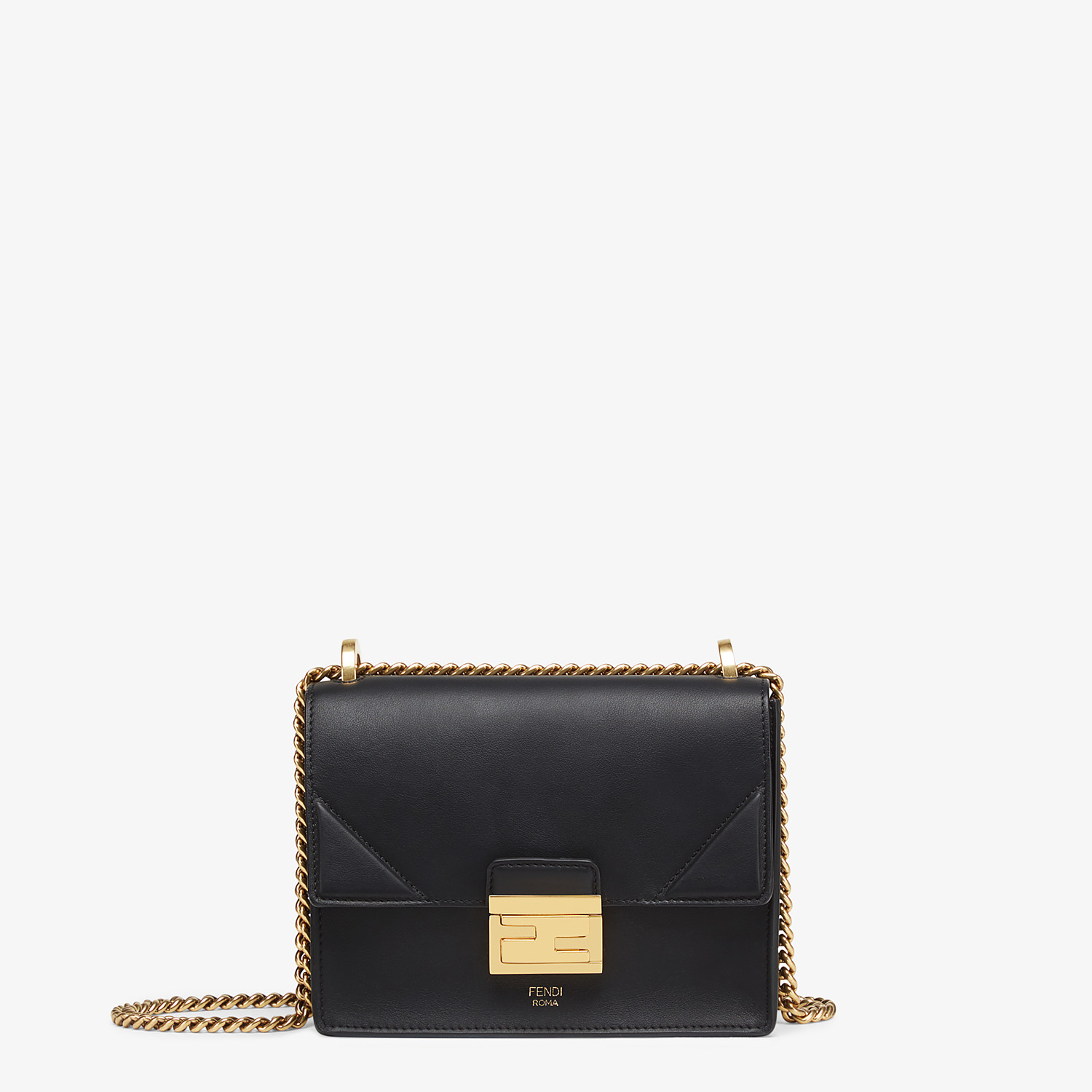 FENDI KAN U SMALL - Black leather mini-bag - view 1 detail