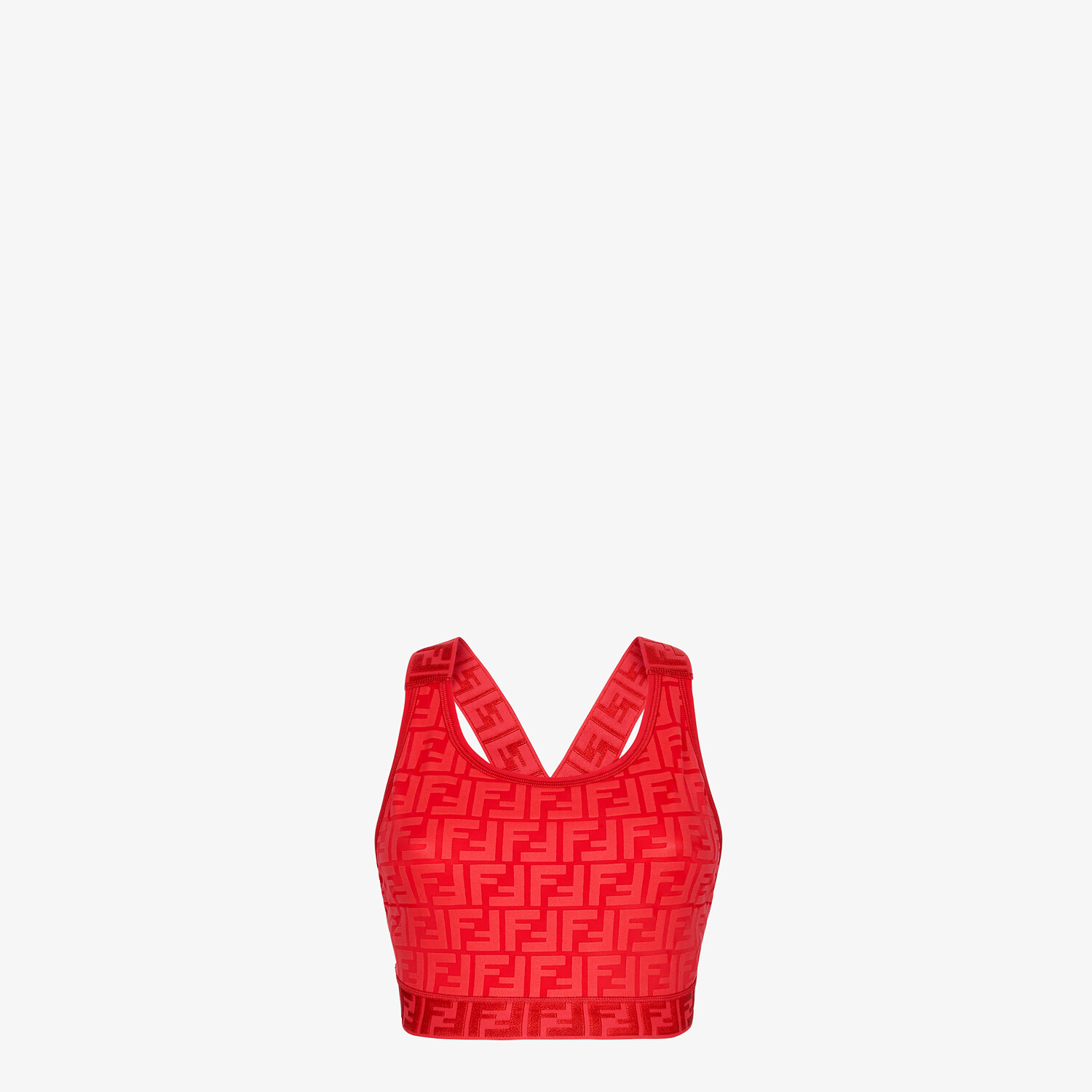 FENDI SPORTS TOP - Red tech fabric top - view 1 detail
