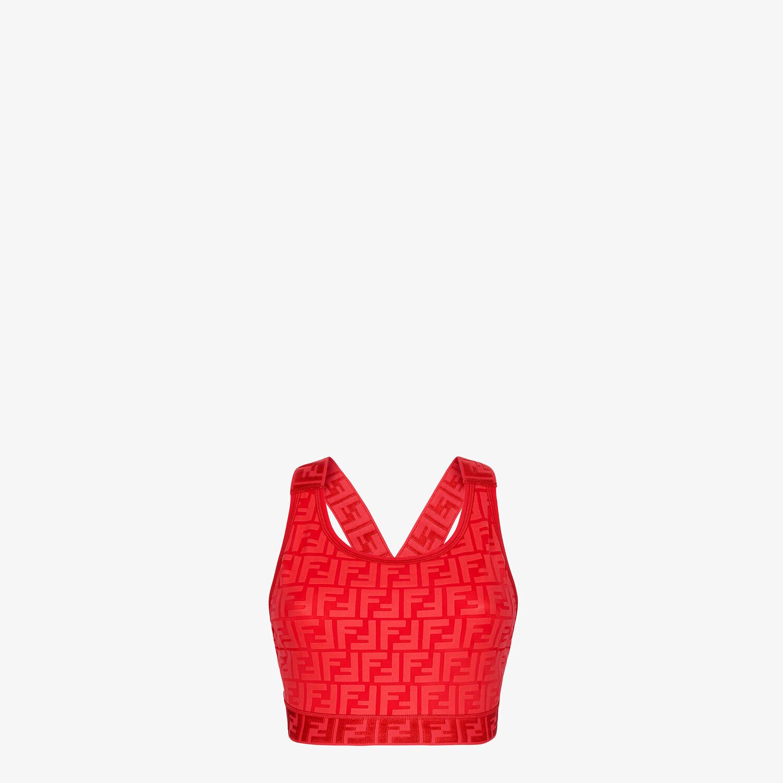 FENDI SPORTS TOP - Red tech fabric top - view 1 detail