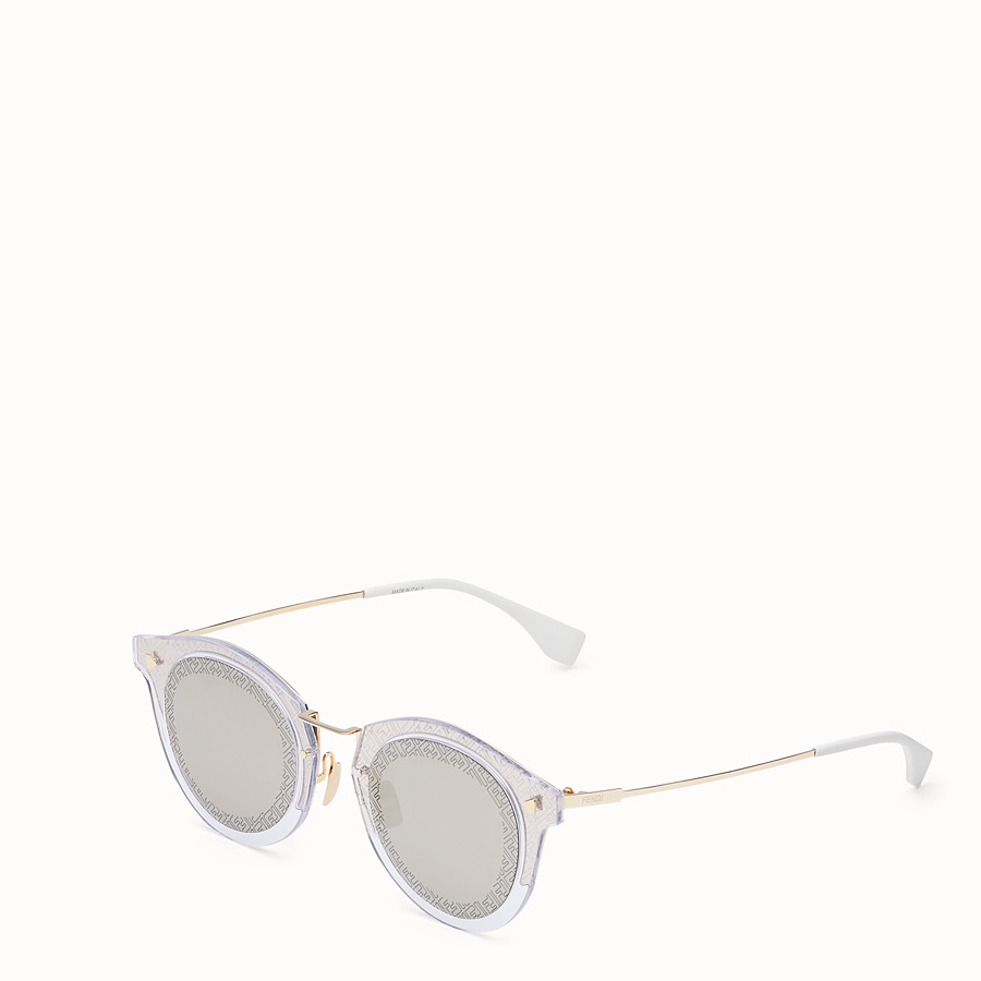 FENDI FF - Transparent and gold sunglasses - view 2 detail