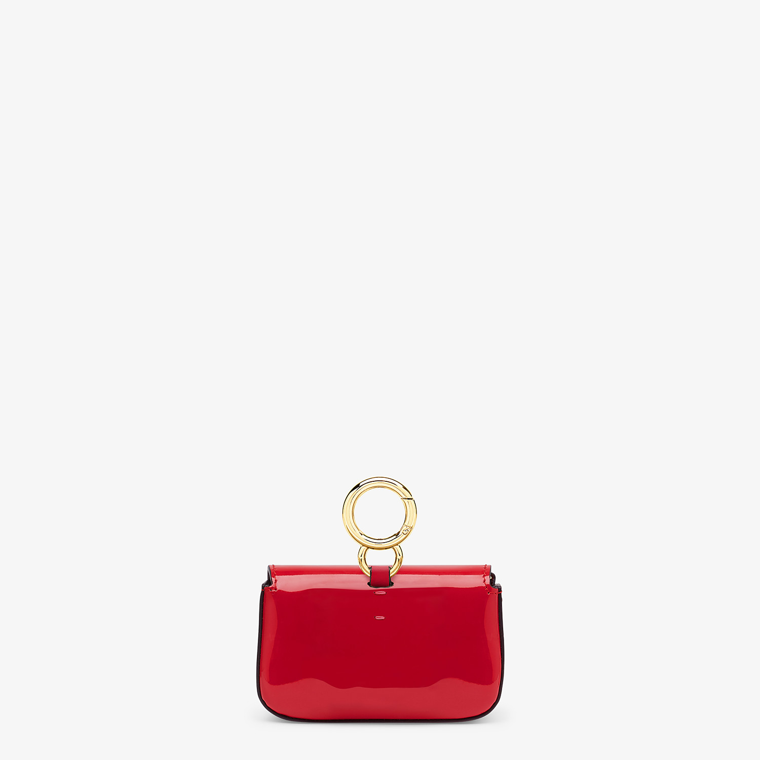 FENDI NANO BAGUETTE CHARM - Red patent leather charm - view 4 detail