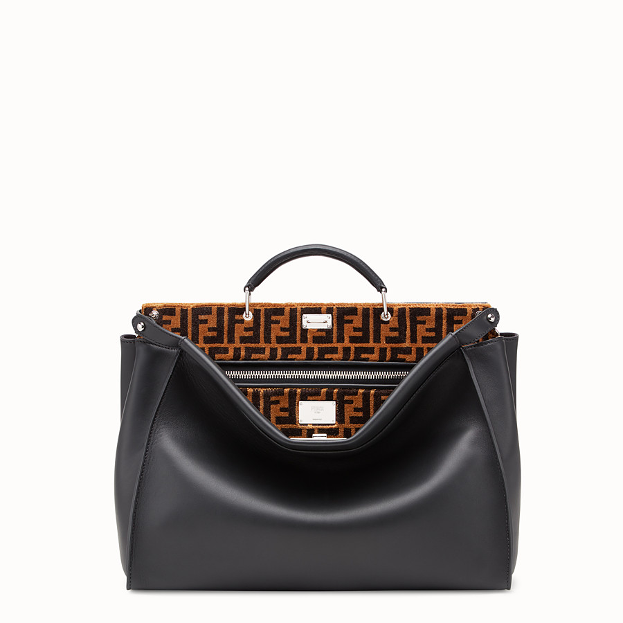 FENDI PEEKABOO ICONIC - Black leather bag - view 1 detail