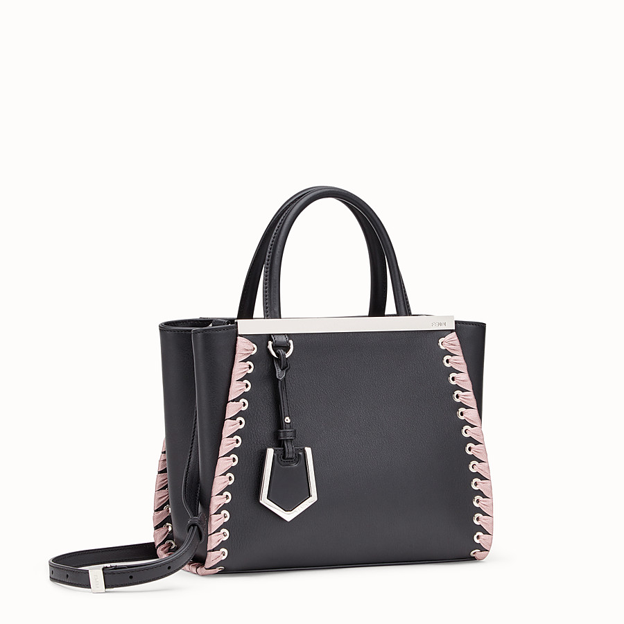 FENDI PETITE 2JOURS - Black leather bag - view 2 detail