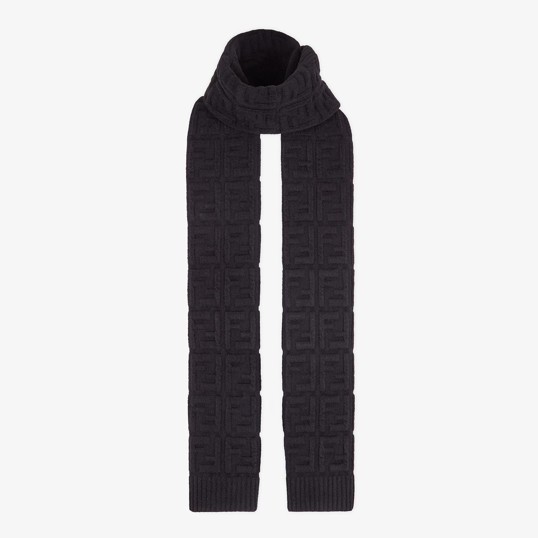 FENDI SCIARPA FF - Sciarpa in lana nera - vista 2 dettaglio