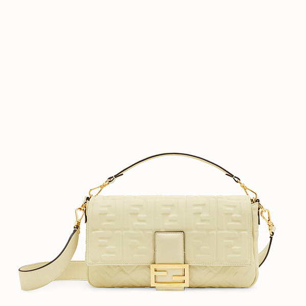 FENDI BAGUETTE LARGE - Yellow leather bag - view 1 small thumbnail