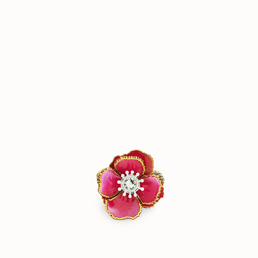 FENDI FLOWERS EARRINGS - Fuchsia enameled earrings - view 2 detail