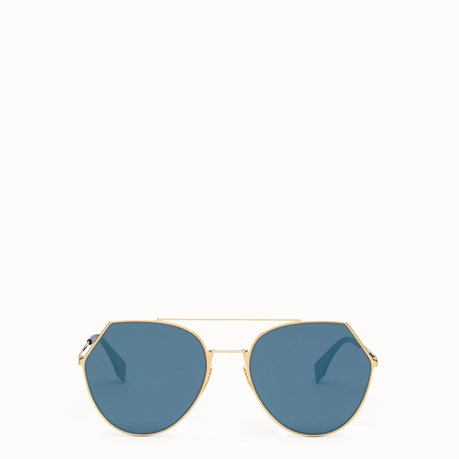 FENDI EYELINE - Gold-coloured sunglasses - view 1 detail