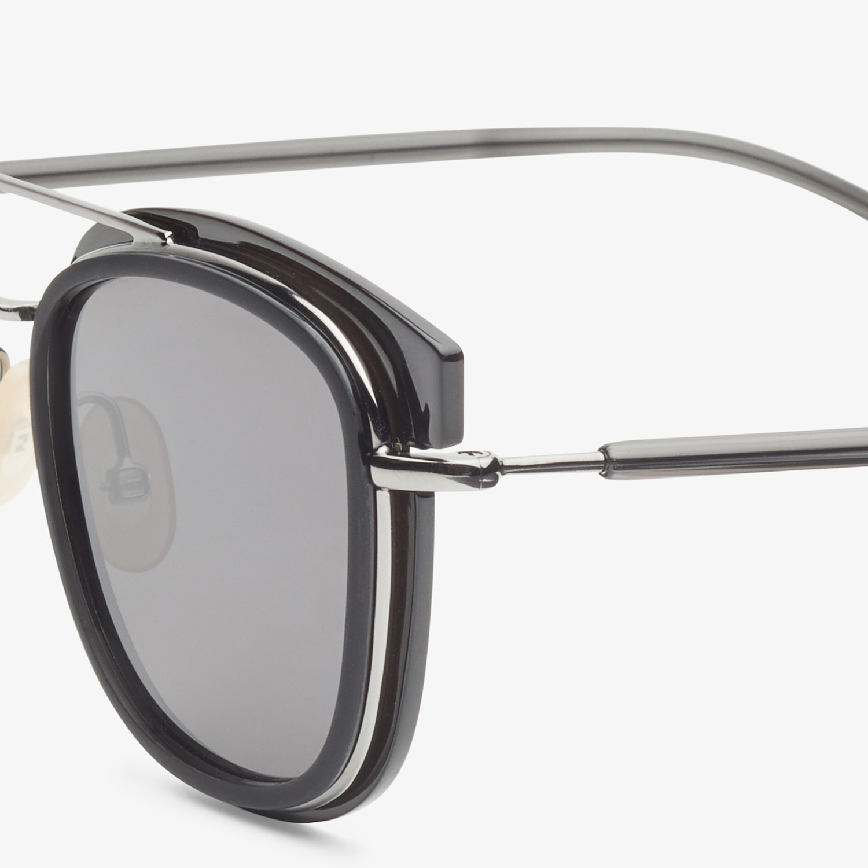 FENDI FENDI GLASS - Dark gray and dark ruthenium sunglasses - view 3 detail