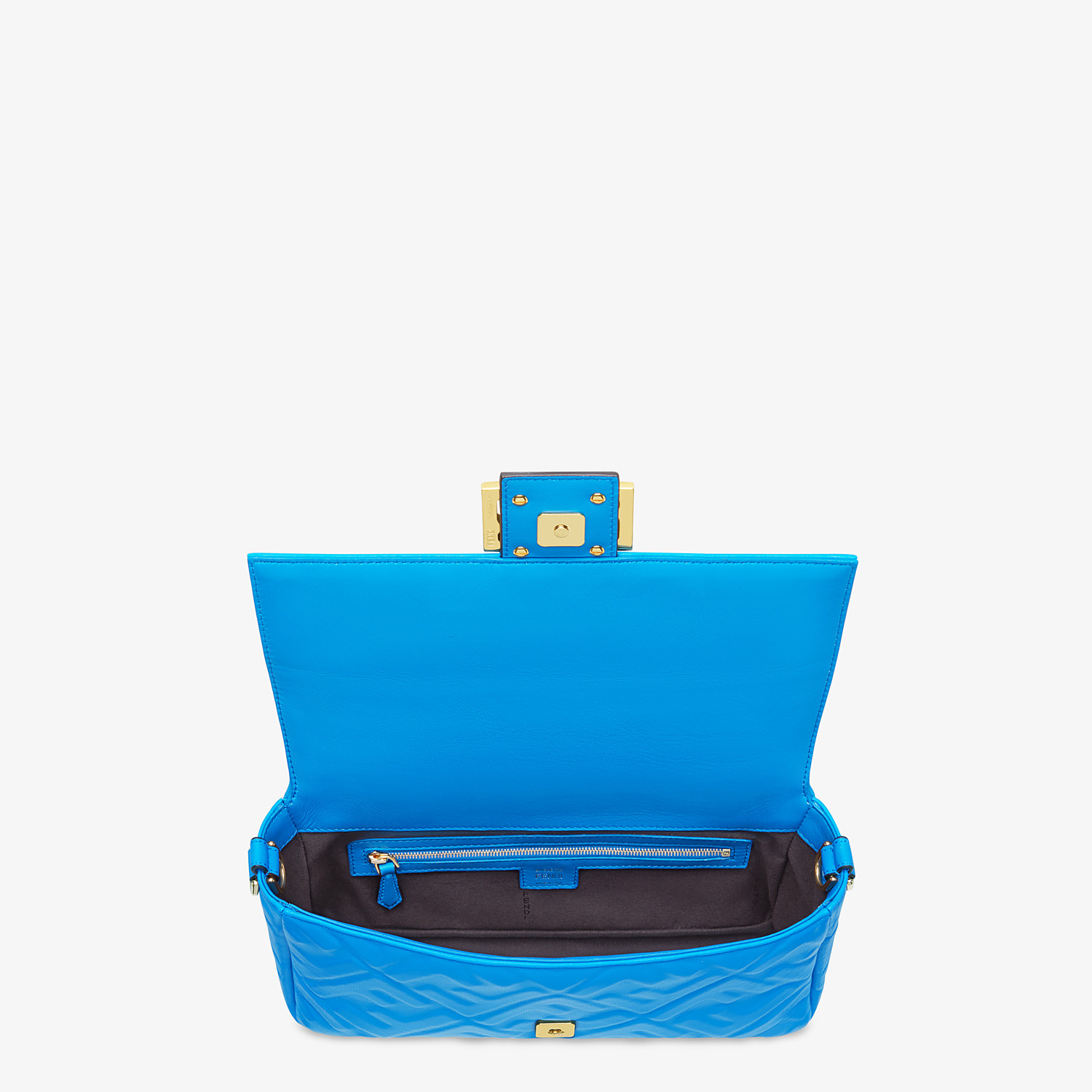 FENDI BAGUETTE - Blue leather bag - view 5 detail