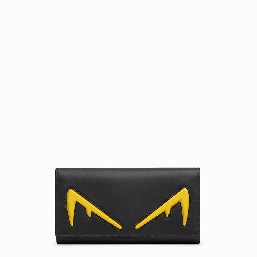 FENDI CONTINENTAL - Black leather wallet - view 1 detail