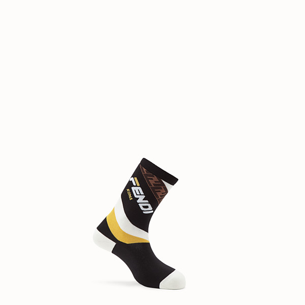 FENDI SOCKS - Black terry socks - view 1 small thumbnail