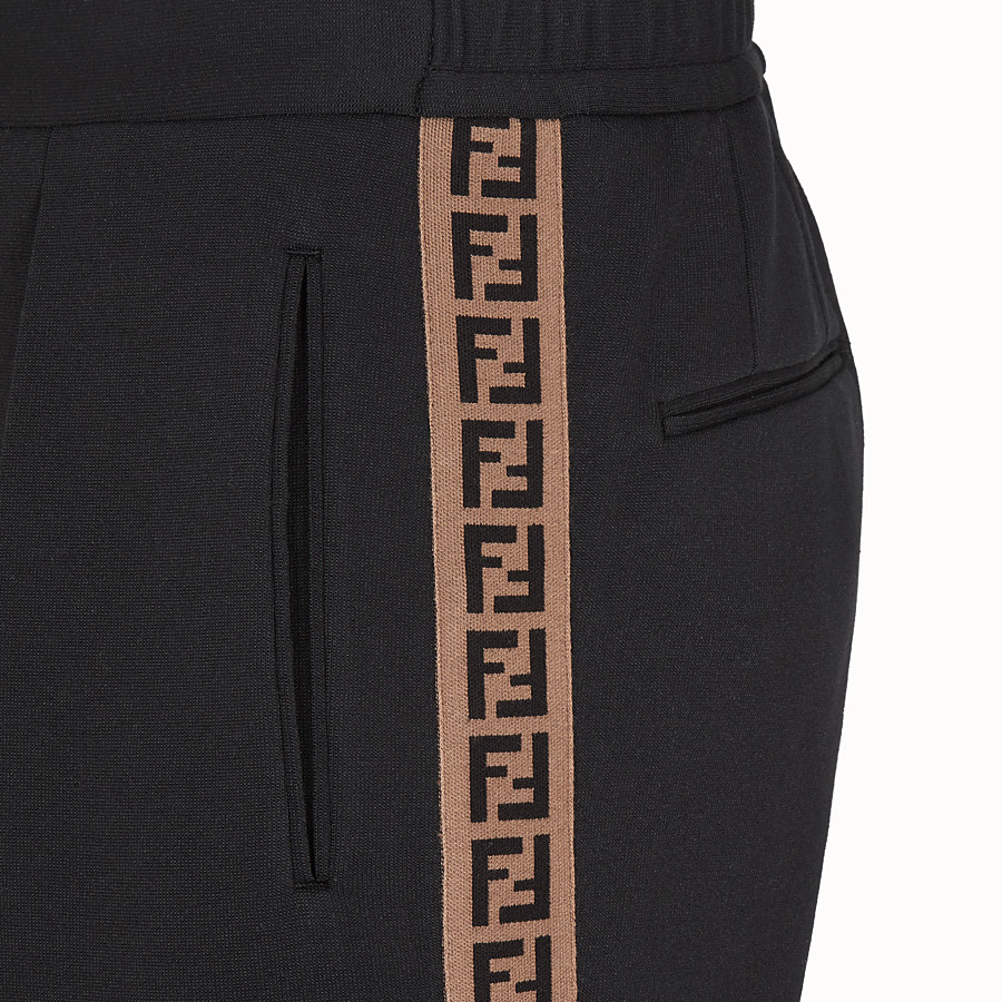 FENDI TROUSERS - Black jersey trousers - view 3 detail