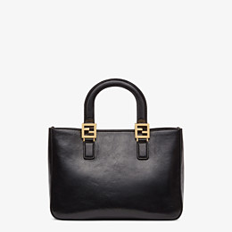 FENDI FF TOTE SMALL - Black leather bag - view 4 thumbnail