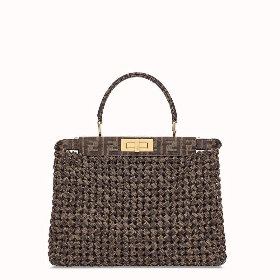FENDI PEEKABOO ICONIC MEDIUM - FF jacquard interlace bag - view 4 detail