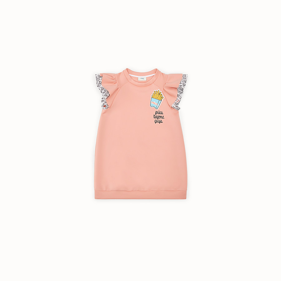 FENDI SWEATSHIRT - Pink and multicolor scuba dress - view 1 detail