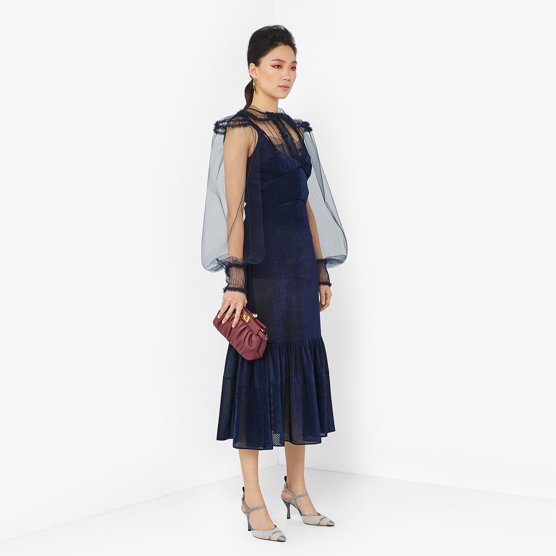 FENDI DRESS - Blue silk jacquard dress - view 4 detail
