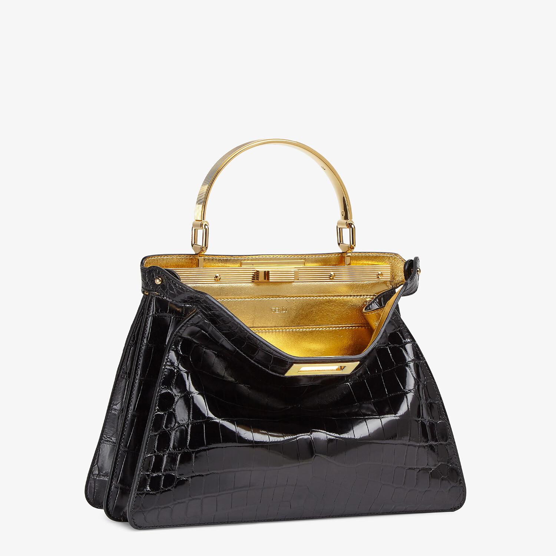 FENDI PEEKABOO ISEEU MEDIUM - Black crocodile leather bag - view 4 detail
