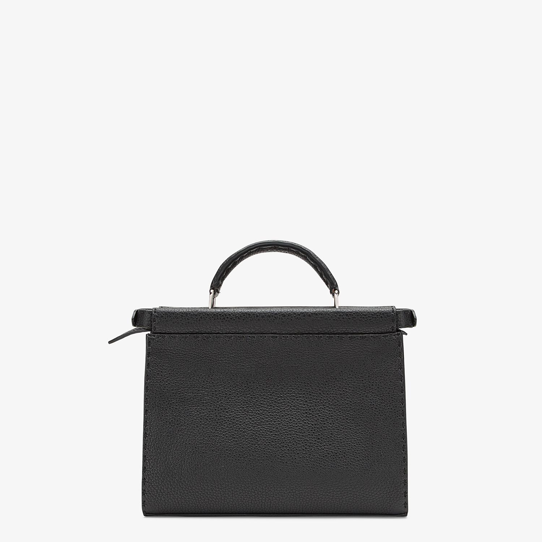 FENDI MINI PEEKABOO FIT - Black leather bag - view 3 detail