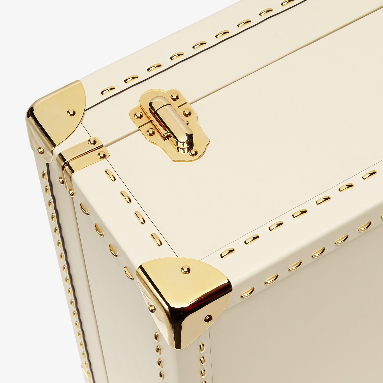FENDI TRAVEL CASE LARGE - White leather suitcase - view 5 detail