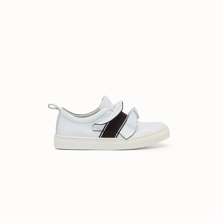 FENDI SNEAKERS - in white  and  black nappa - view 1 detail