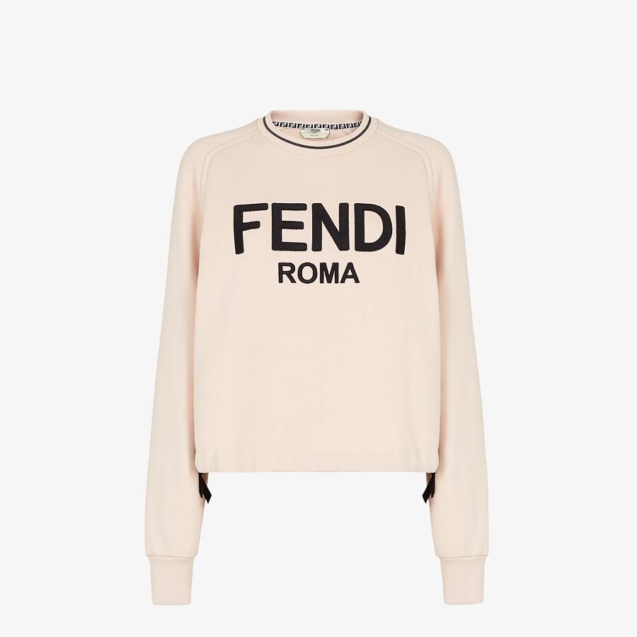 FENDI SWEATSHIRT - Pink jersey sweatshirt - view 1 detail