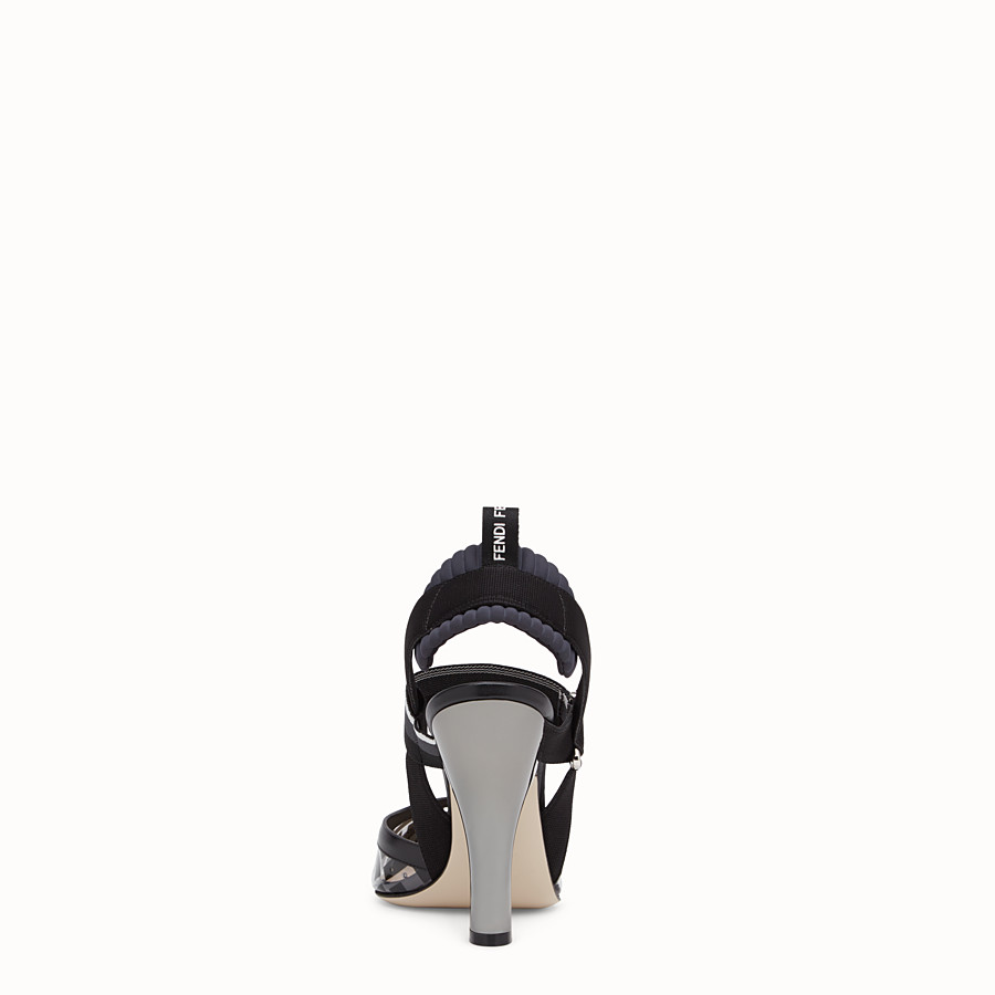FENDI SLINGBACKS - Slingbacks in PU and black leather - view 3 detail