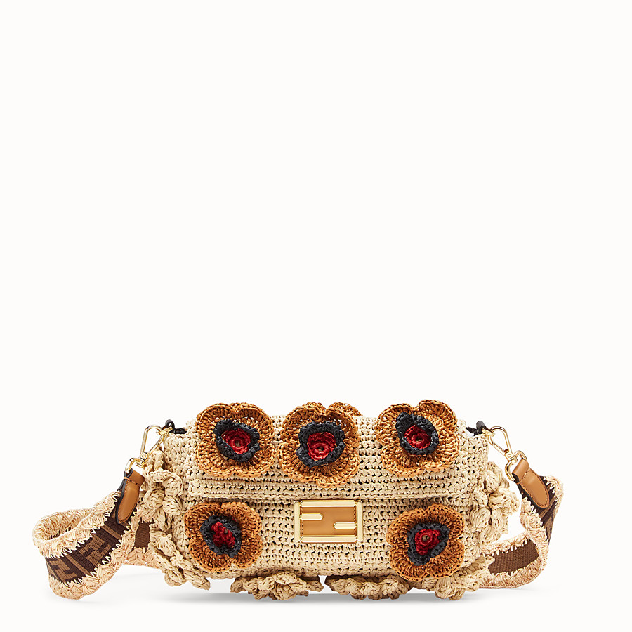 FENDI BAGUETTE - Multicolour raffia bag - view 1 detail