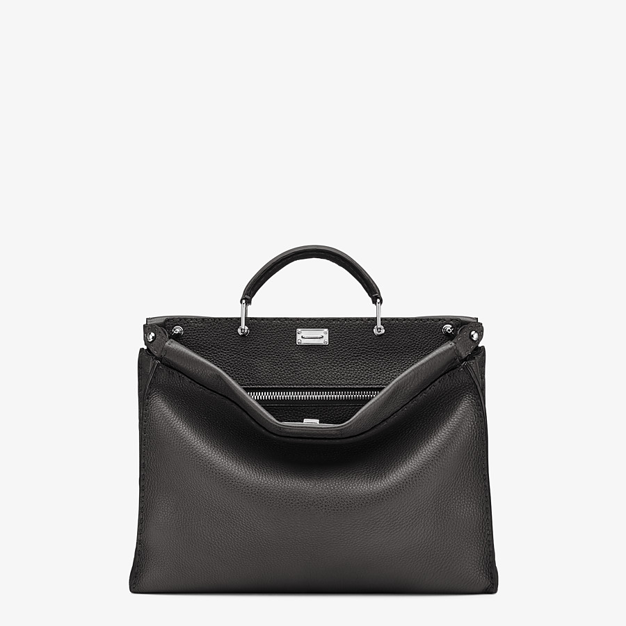 FENDI PEEKABOO ICONIC FIT - Black leather Selleria bag - view 1 detail