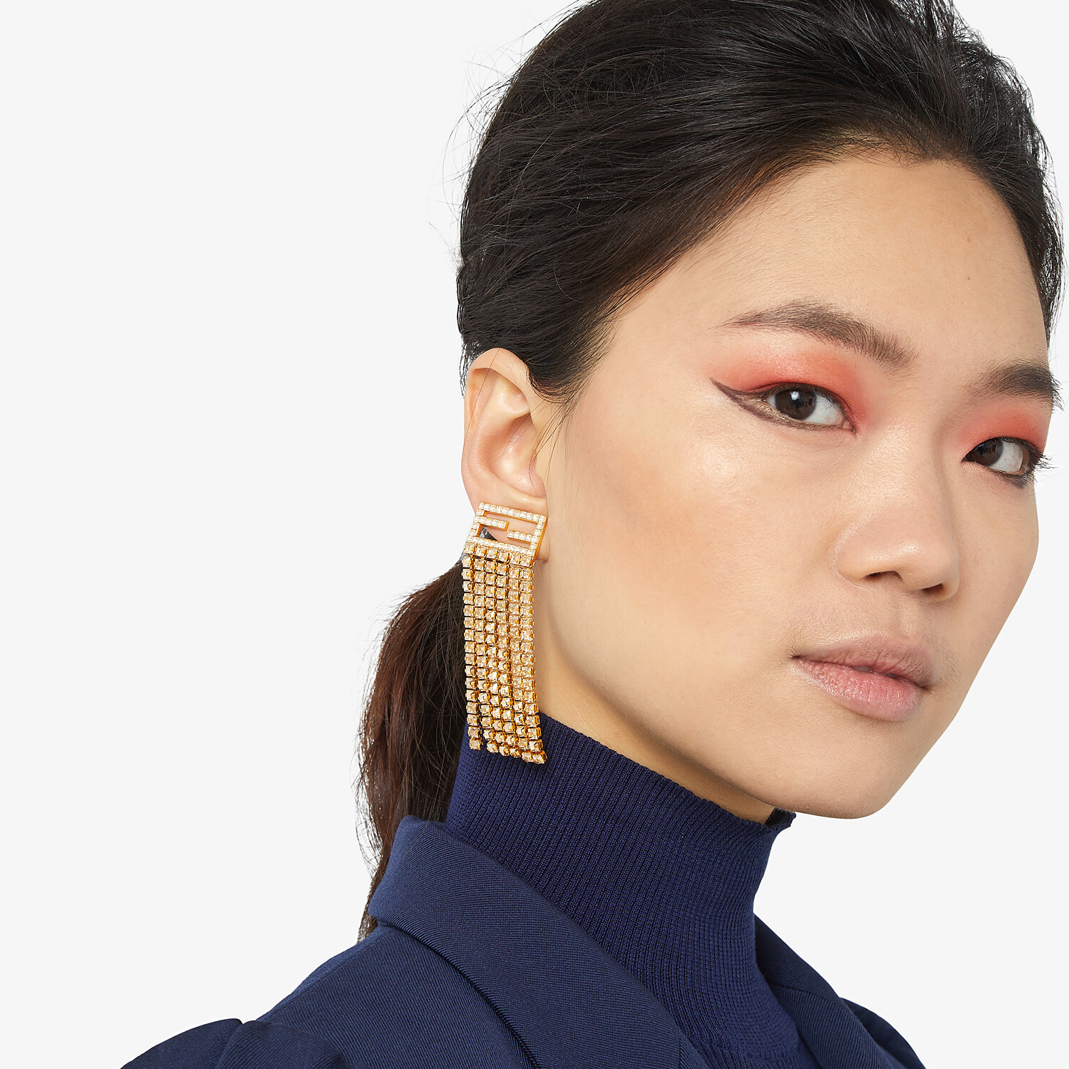FENDI BAGUETTE EARRINGS - Gold-color earrings - view 2 detail
