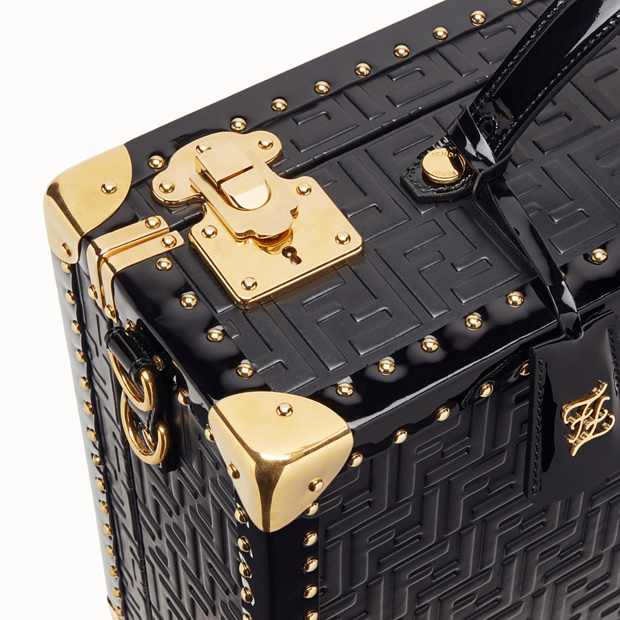 FENDI TRAVEL BAG - Black leather suitcase - view 5 detail