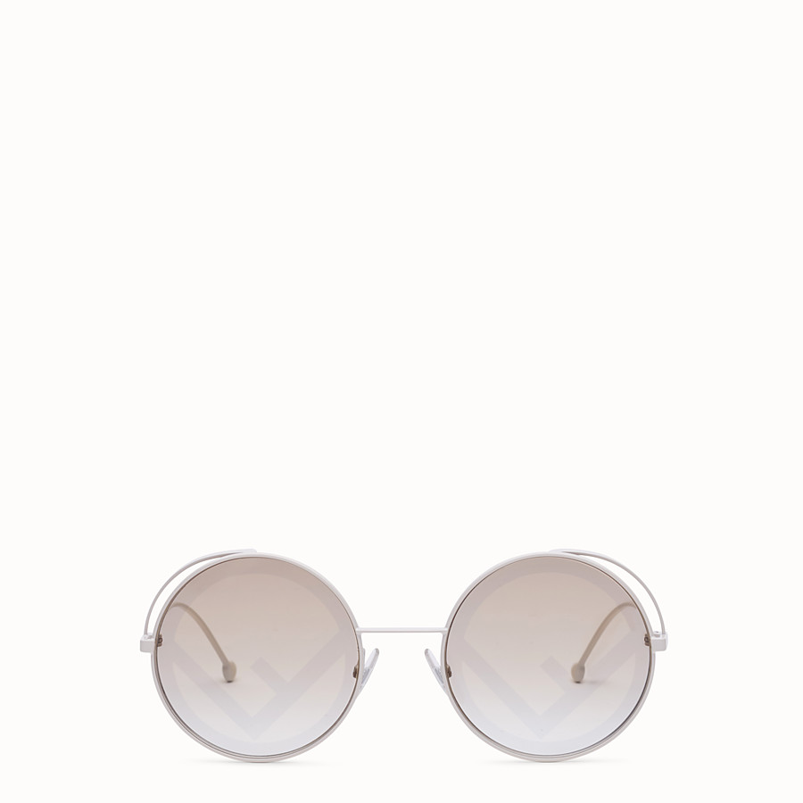 FENDI FENDIRAMA - White sunglasses - view 1 detail