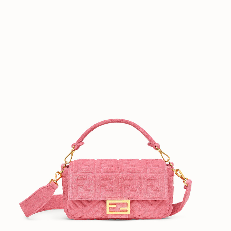 FENDI BAGUETTE - Pink terry bag - view 1 detail