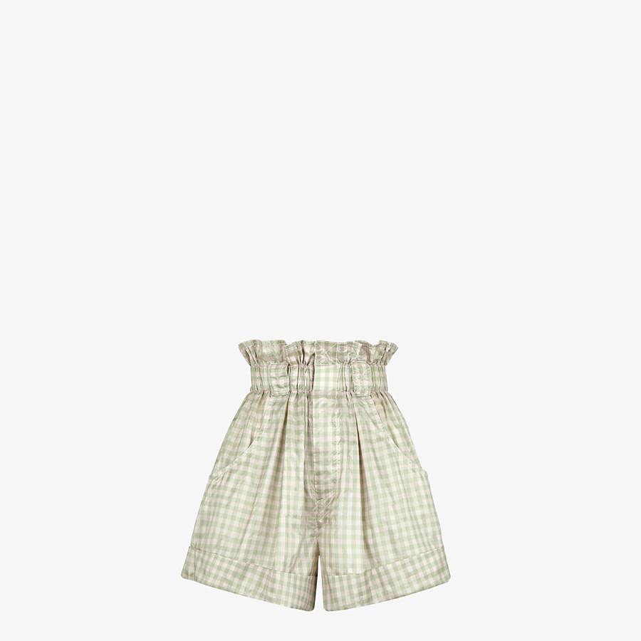 FENDI SHORTS - Kurze Hose aus Seide mit Vichykaros  - view 1 detail