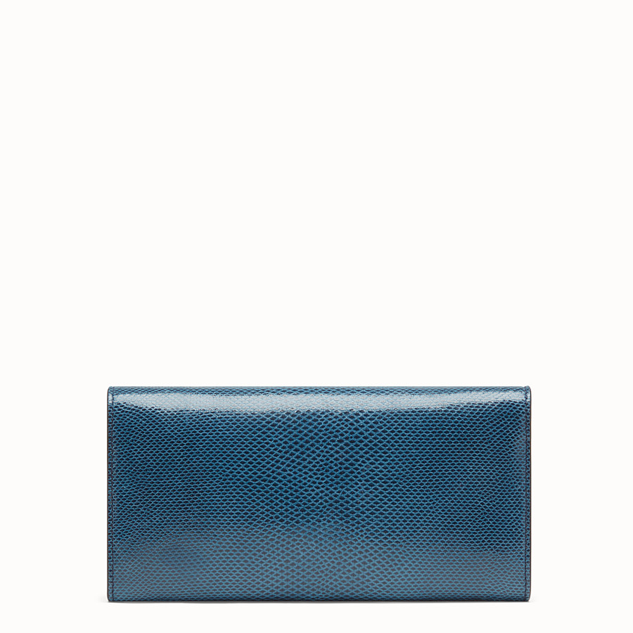 FENDI CONTINENTAL WITH CHAIN - Blue karung wallet - view 3 detail