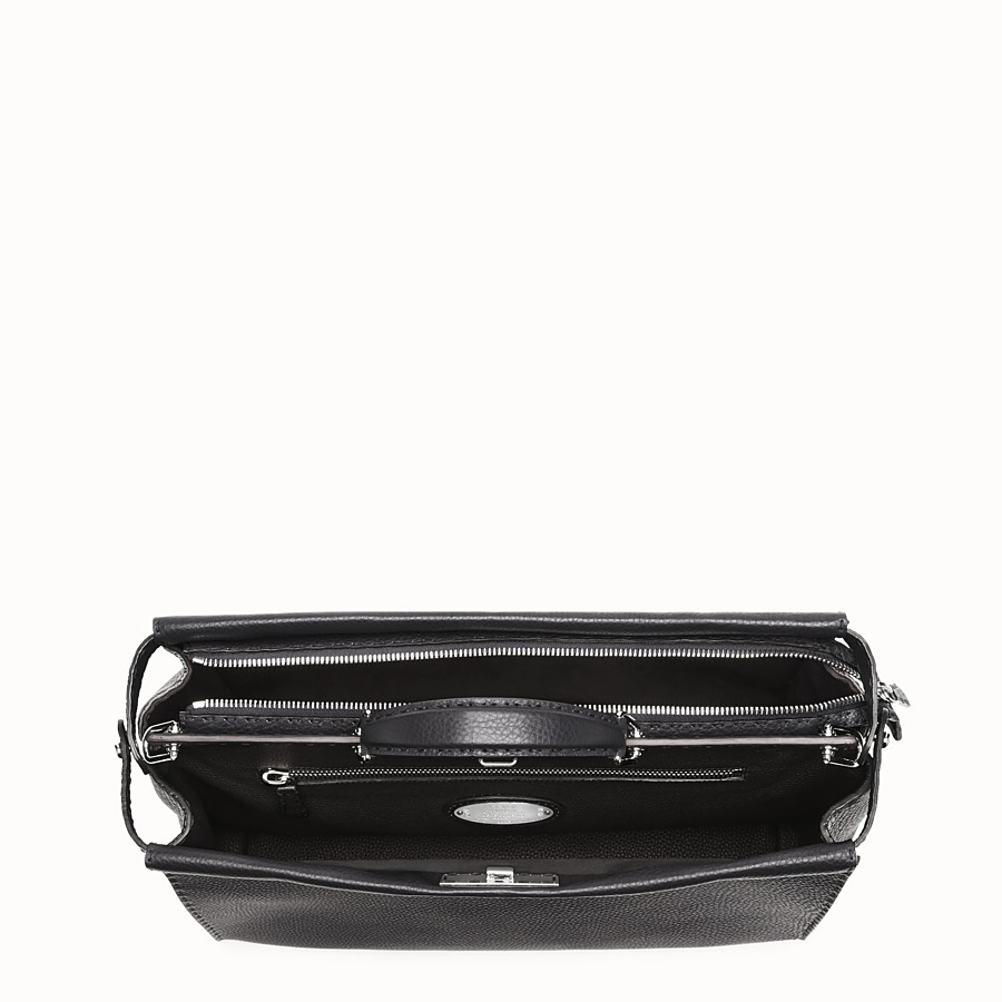 FENDI PEEKABOO - Small black Roman leather handbag - view 4 detail