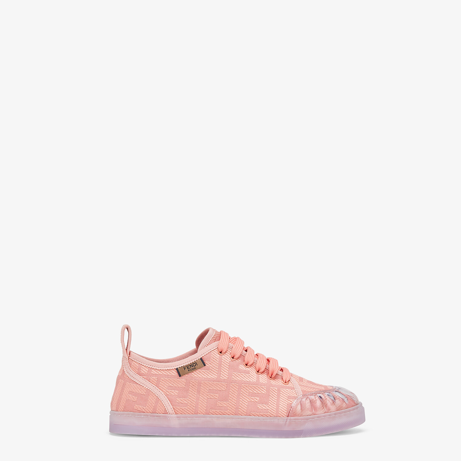 FENDI SNEAKERS - Pink canvas low tops - view 1 detail