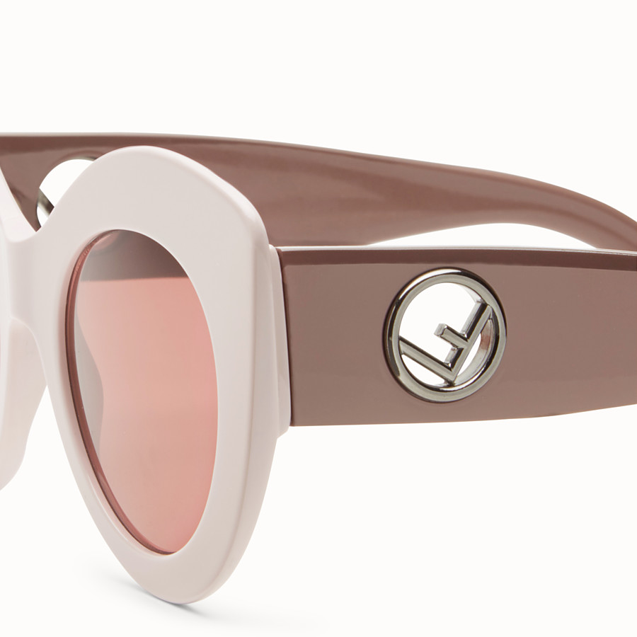 FENDI F IS FENDI - Pink and mauve sunglasses - view 3 detail