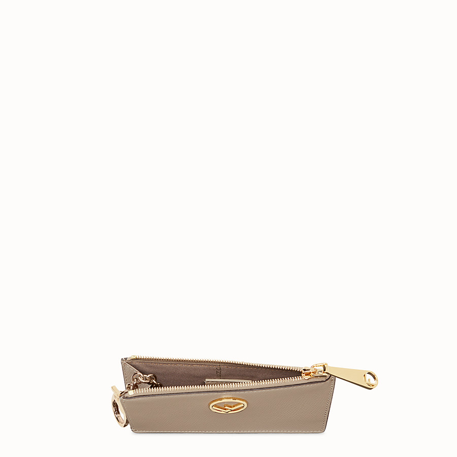 FENDI KEY RING POUCH - Grey leather pouch - view 4 detail