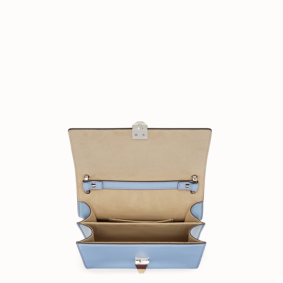 FENDI KAN I SMALL - Mini-sac en cuir bleu clair - view 4 detail