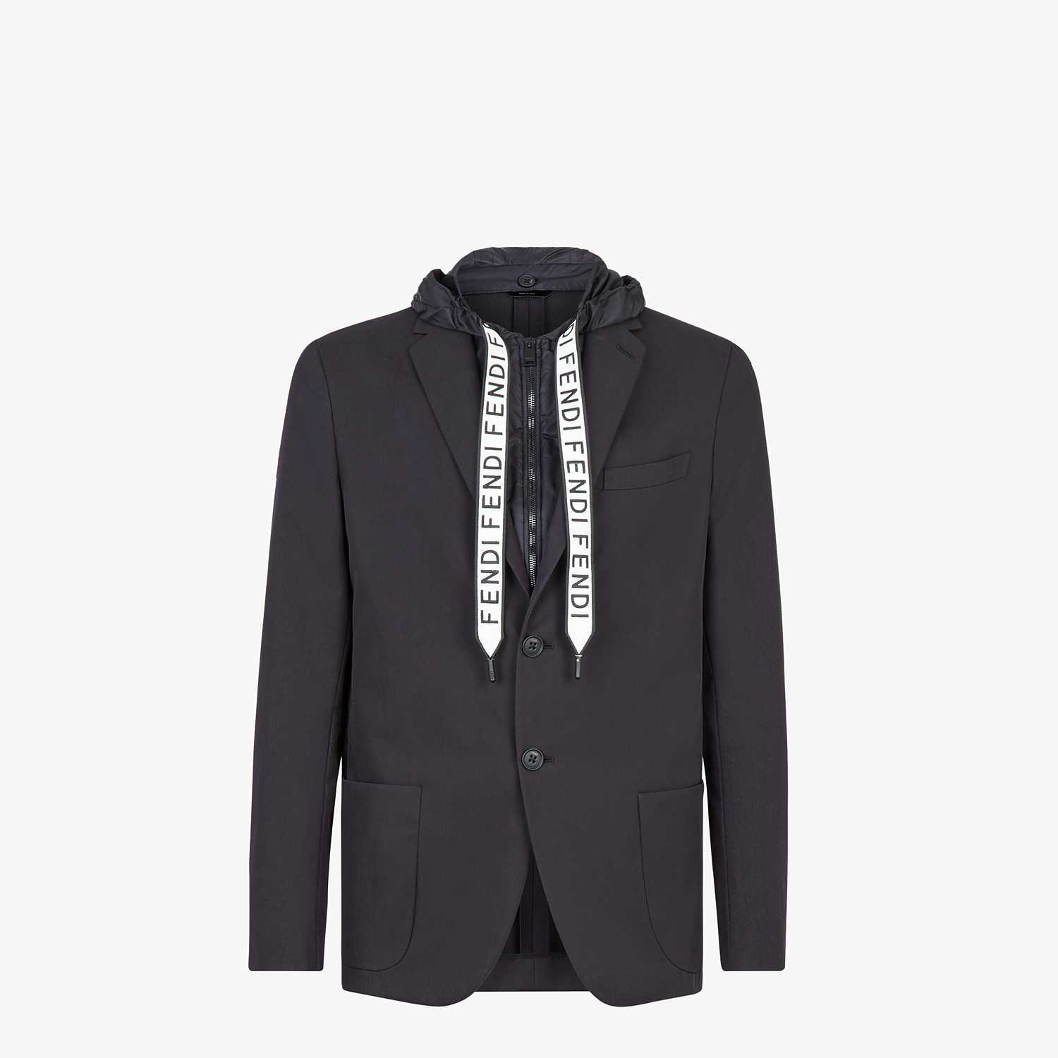 FENDI JACKET - Black cotton blazer - view 1 detail