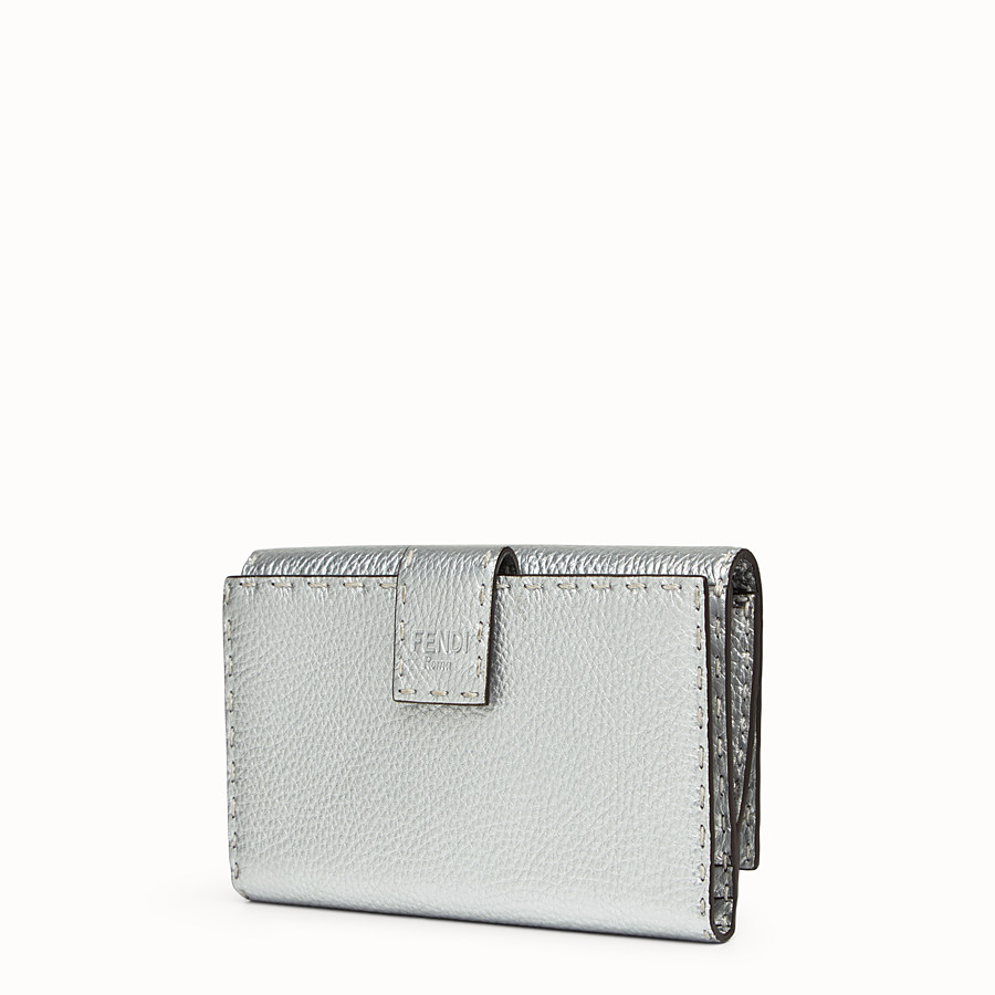 FENDI WALLET - in silver Roman leather - view 2 detail