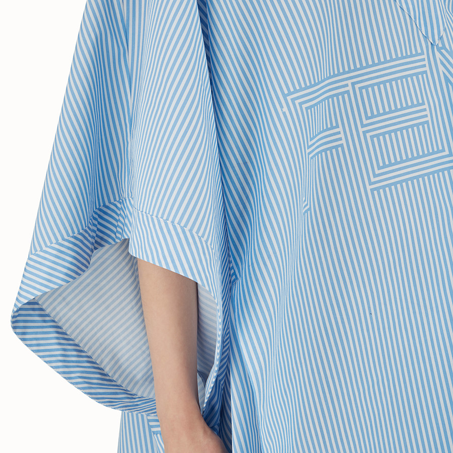 FENDI KIMONO DRESS - Light blue cotton dress - view 4 detail