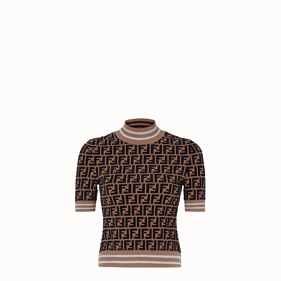 FENDI PULLOVER - Fendi Prints On viscose jumper - view 1 detail