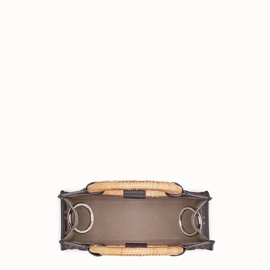 FENDI RUNAWAY SHOPPER - Brown leather small shopper - view 4 detail