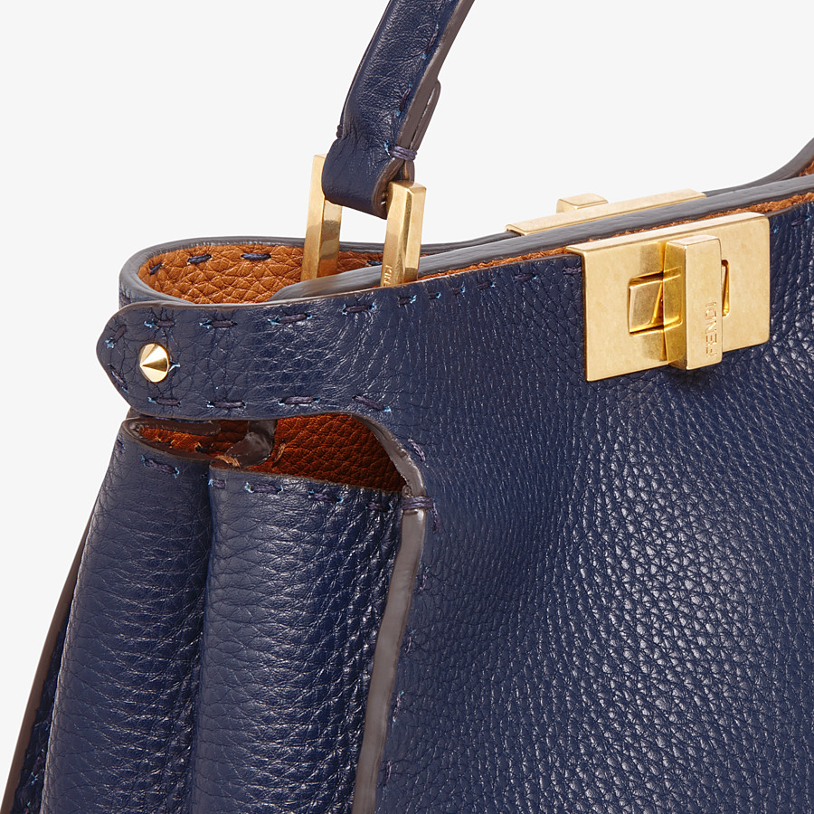 FENDI PEEKABOO ICONIC ESSENTIALLY - Blue leather bag - view 6 detail