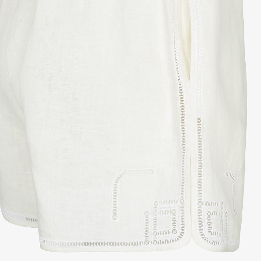 FENDI SHORTS - Natural hemp fabric shorts - view 3 detail