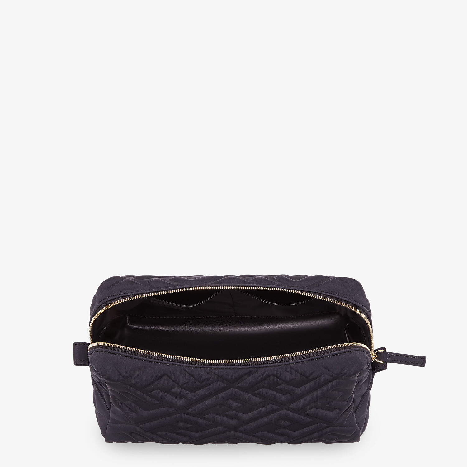 FENDI MEDIUM BEAUTY POUCH - Black LYCRA® toiletry case - view 3 detail
