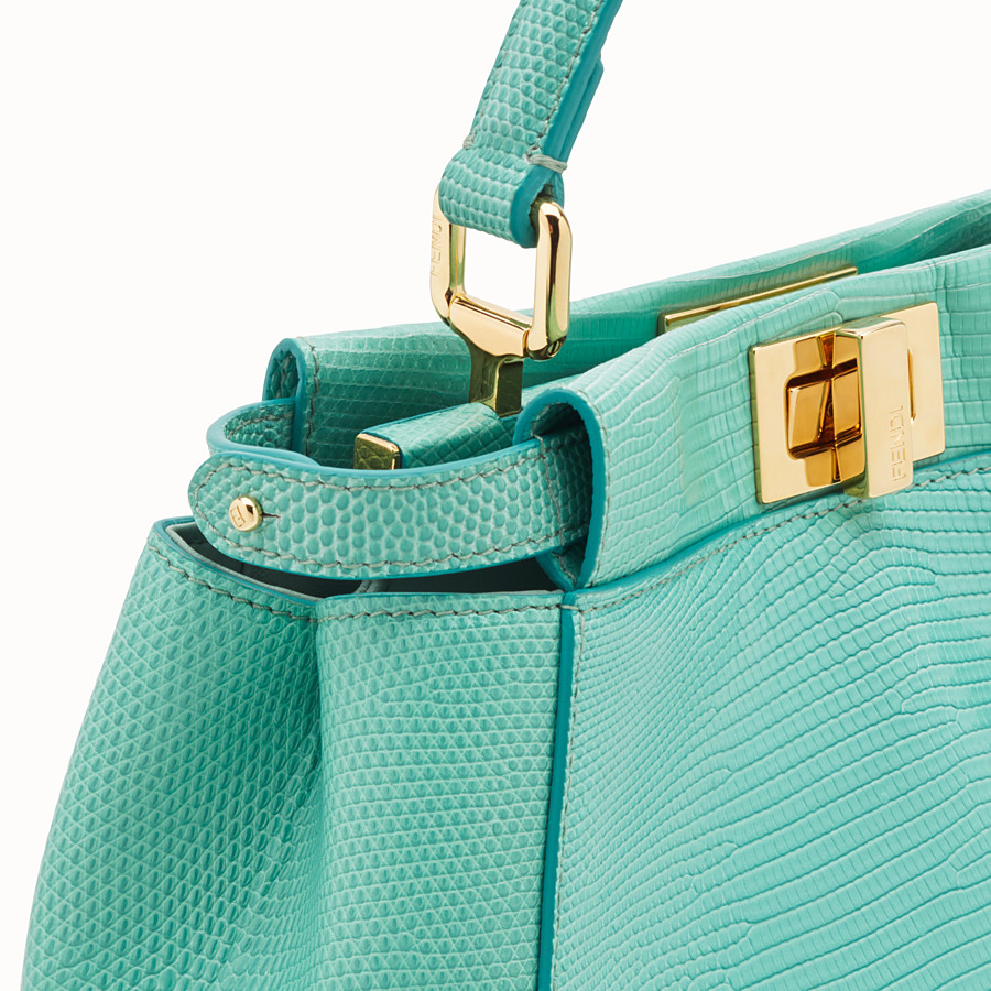 FENDI PEEKABOO ICONIC MINI - Green lizard leather bag - view 5 detail